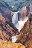 Lower Yellowstone Falls. Lower Falls of the Yellowstone River in Yellowstone National Park royalty free stock images