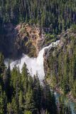 Lower Yellowstone Falls, Wyoming. Grand Canyon of Yellowstone Park, Yellowstone River.  Royalty Free Stock Images