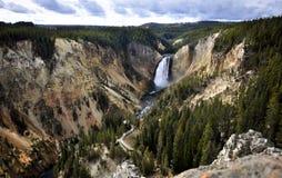 Lower Yellowstone Falls in Yellowstone National Park, Wyoming Stock Photos