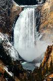 Lower Yellowstone Water Fall Gorge Canyon Royalty Free Stock Images