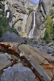Lower Yosemite Fall in winter Royalty Free Stock Photo