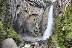 Lower Yosemite Falls. In Yosemite National Park, California, United States Stock Images