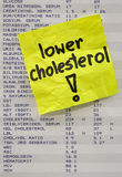 Lower your cholesterol concept Royalty Free Stock Photo