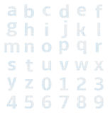 Lowercase alphabet graph paper Royalty Free Stock Photography