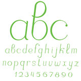 Lowercase cursive handcrafted vector alphabet. Lowercase cursive handcrafted vector alphabet Royalty Free Stock Images