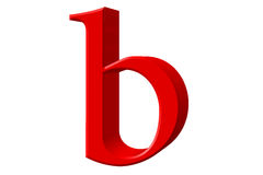 Lowercase letter B, isolated on white, with clipping path, 3D il Royalty Free Stock Images