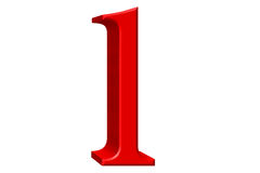 Lowercase letter L, isolated on white, with clipping path, 3D il Royalty Free Stock Photography