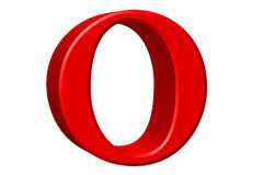 Lowercase letter O, isolated on white, with clipping path, 3D il Royalty Free Stock Photos