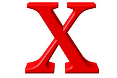 Lowercase letter X, isolated on white, with clipping path, 3D il Stock Photos