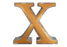 Lowercase letter X, isolated on white, with clipping path, 3D il Royalty Free Stock Photos