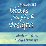 Lowercase letters vector Royalty Free Stock Images