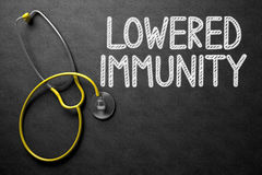 Lowered Immunity Concept on Chalkboard. 3D Illustration. Stock Images