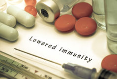 Lowered immunity Royalty Free Stock Photography