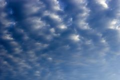 Gloomy blue sky with clouds royalty free stock images