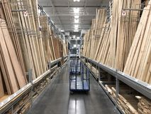 Lowes Home Improvement Store. Lowes is a U.S.-based chain of retail home improvement and appliance stores. This store is located in Gilbert Arizona Royalty Free Stock Photo