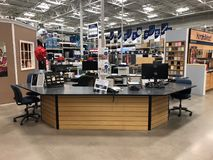 Lowes Home Improvement Store. Lowe`s is a U.S.-based chain of retail home improvement and appliance stores. This store is located in Gilbert Arizona stock photo