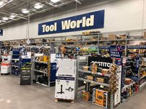 Lowes Home Improvement Store. Lowe`s is a U.S.-based chain of retail home improvement and appliance stores. This store is located in Gilbert Arizona stock image