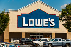 Lowes Retail Store Sign Stock Photo