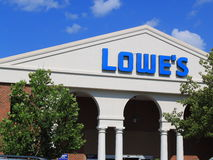 Lowes Store Front. Lows is a U.S.-based chain of retail home improvement and appliance stores royalty free stock photo