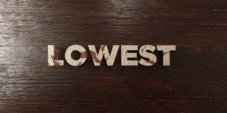 Lowest - grungy wooden headline on Maple - 3D rendered royalty free stock image. This image can be used for an online website banner ad or a print postcard royalty free illustration