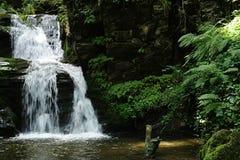 Lowest part of Resov waterfall in Jesenniky region, Moravia, Czech Republic Stock Photography