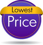 Lowest price button. Vector illustration isolated on white background - lowest price web button icon stock illustration