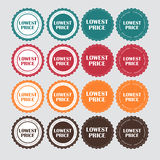 Lowest Price Golden Label Vector Illustration Stock Images