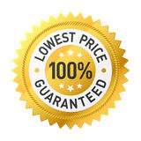 Lowest price guaranteed sticker Stock Images