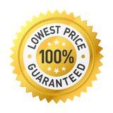 Lowest price guaranteed sticker. Illustration stock illustration