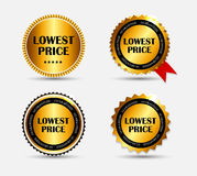 Lowest Price Label Set Vector Illustration Stock Photography