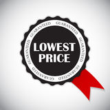 Lowest Price Label Vector Illustration Stock Photography