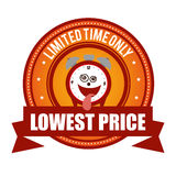 Lowest price limited time onli crazy clock cartoon Stock Images