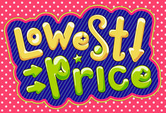 Lowest price poster. Royalty Free Stock Images
