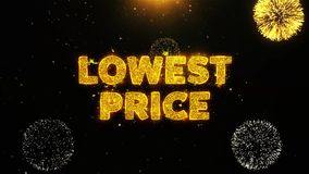 Lowest Price Text on Firework Display Explosion Particles.