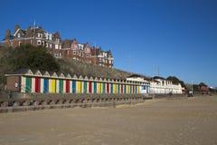 Lowestoft海滨人行道,萨福克,英国 免版税库存照片