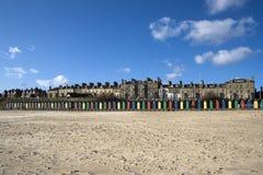 Lowestoft海滩,萨福克,英国 库存照片