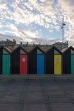 Lowestoft południe plaży budy Zdjęcia Royalty Free
