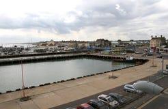Lowestofthafen und -brücke lizenzfreie stockbilder