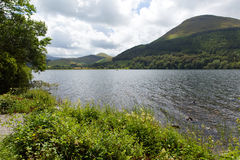 Loweswater Lake District Cumbria England UK and mountain view Royalty Free Stock Photo