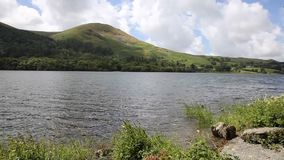 Loweswater Lake District not far from Cockermouth Cumbria uk with mountains stock footage