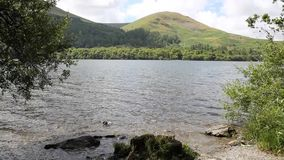Loweswater Lake District not far from Cockermouth Cumbria uk with mountains stock video