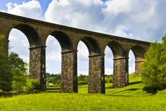 Lowgill viaduct and Meadow Stock Images