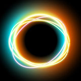 Lowing electric circle, neon lamp Royalty Free Stock Photography