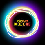 Lowing electric circle, neon lamp Royalty Free Stock Photo