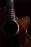 Lowkey ακουστική κιθάρα, ακόμα ζωή στοκ εικόνες