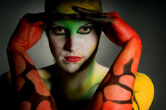 Lowkey bodypainting Stock Images