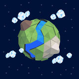 Lowpoly abstract planet Royalty Free Stock Photography