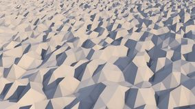 Lowpoly Backdrop with Grey and White Pyramids. A lowpoly 3d illustration of a white and grey background with snowy pyramidal objects. The area looks like alien Stock Photos