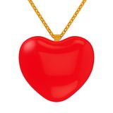 Lowpoly heart on chain. 3D rendering of the Lowpoly heart on chain Stock Photo