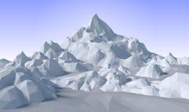 lowpoly Landschaft der Zusammenfassung 3D Stockfotos